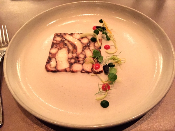 Octopus Carpaccio - fennel, oil cured olives, pickled lemon, celery