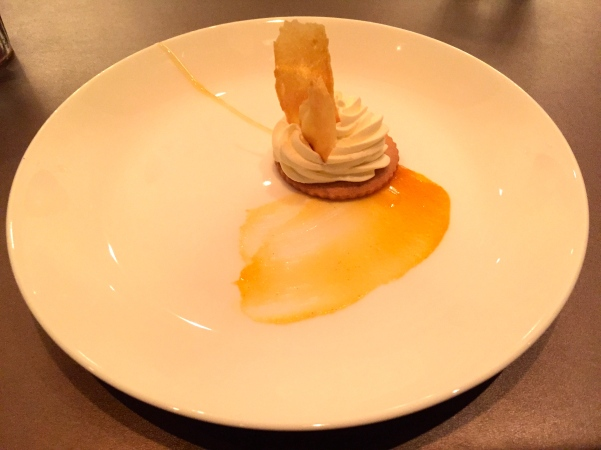 Lemon Tart - crispy pate a choux, apricot, honey