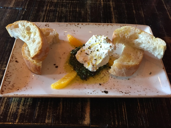Robiola - Fennel-Almond Pesto, Oranges, Ciabatta ($7)