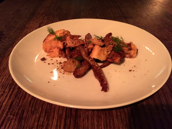 Smoken Salmon - Cocoa Roasted Parsnips, Blood Orange Marmalade, Gingersnap, Rooibos, Dill